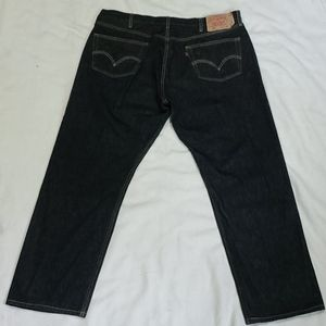 Levi's Jeans - Levi's 501 Straight Leg Button Fly Jeans Sz 44x32